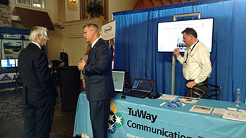 TuWay booth at APCO event in Lancaster, PA